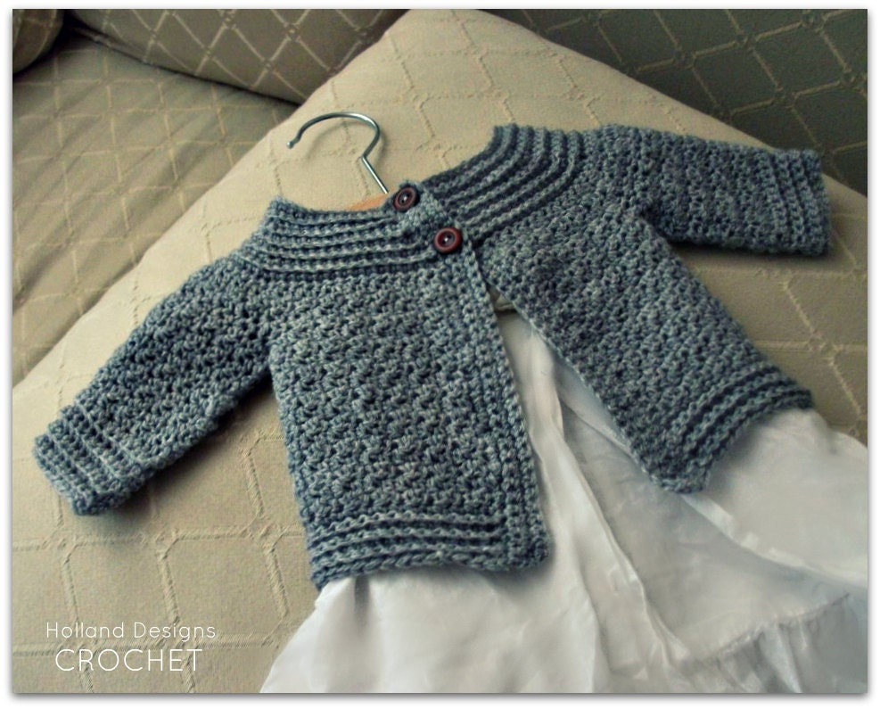 Download Now Crochet Pattern Classic Baby Cardigan Sizes