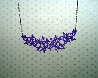 Purple butterfly garland necklace