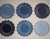 Reserved for blakeleymaggi  18 Denim Blue Doily Assortment in Acid Free Lignin Free Cardstock