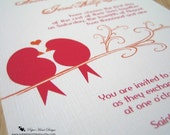 Love Birds Wedding Invitation with RSVP card