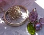 Flower Garden Silver Necklace