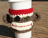 Dress up your Cup with a handmade Sock Munkey Cup Cozy