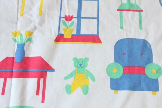 Finnish vintage kids cotton by Finlayson - HALF A YARD