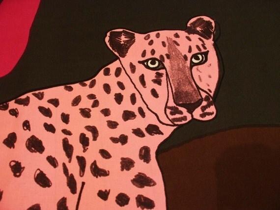 Marimekko Laukku Sininen : Sininen gepardi cotton by marimekko