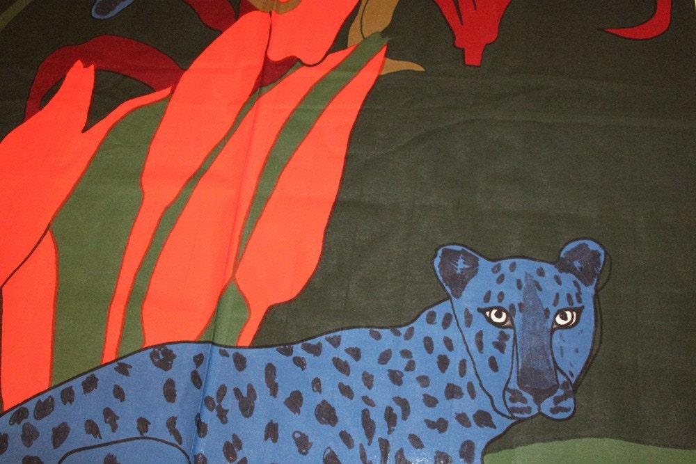 Marimekko Laukku Sininen : Marimekko sininen gepardi cotton