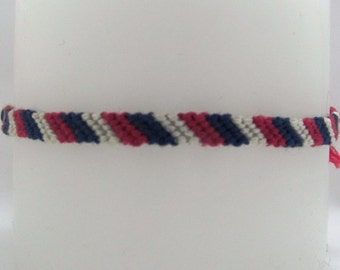 Fruity Inspired Candy-Cane Friendship Bracelet
