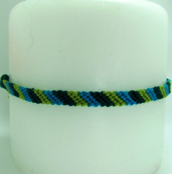 Out at Sea Inspired Candy-Cane Friendship Bracelet