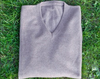 V-Neck sweater in pure cashmere for men