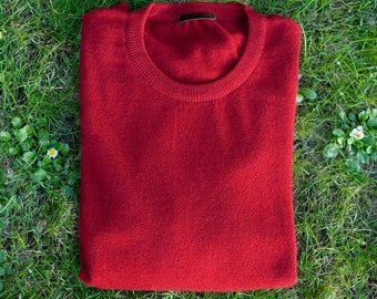 Crew neck sweater in pure cashmere for man