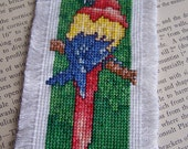 Red Parrot Macaw Counted Cross Stitch Bookmarker