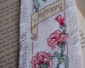 Month of January Counted Cross Stitch Bookmarker