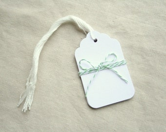 Scalloped Tags - Set of 10
