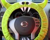 PAUL Lime Green Monster Steering Wheel Cover