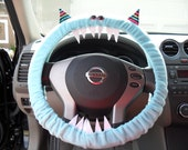 Made 2 Order FRAN Blue GENUINE Monster Steering Wheel Cover