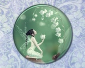 Lily of the Valley Flower Fairy Pocket Mirror