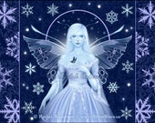 Snowflake Fairy and Fantasy Art Print