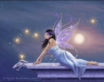 Twilight Shimmer Fairy Art Print
