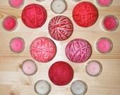 SALE  Wool Dryer Balls - St. Valentine's Collection
