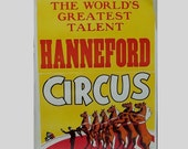 SALE 1960s wall hanging / vintage 60s home decor / Equestrian Circus Poster