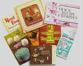 1960s promotional books / 60s cookbooks / Weird Recipe Pamphlet Set