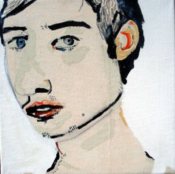outsider EMERY SALE orig painting 'his mother wanted him to be himself'