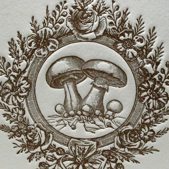 Vintage Mushroom in Brown