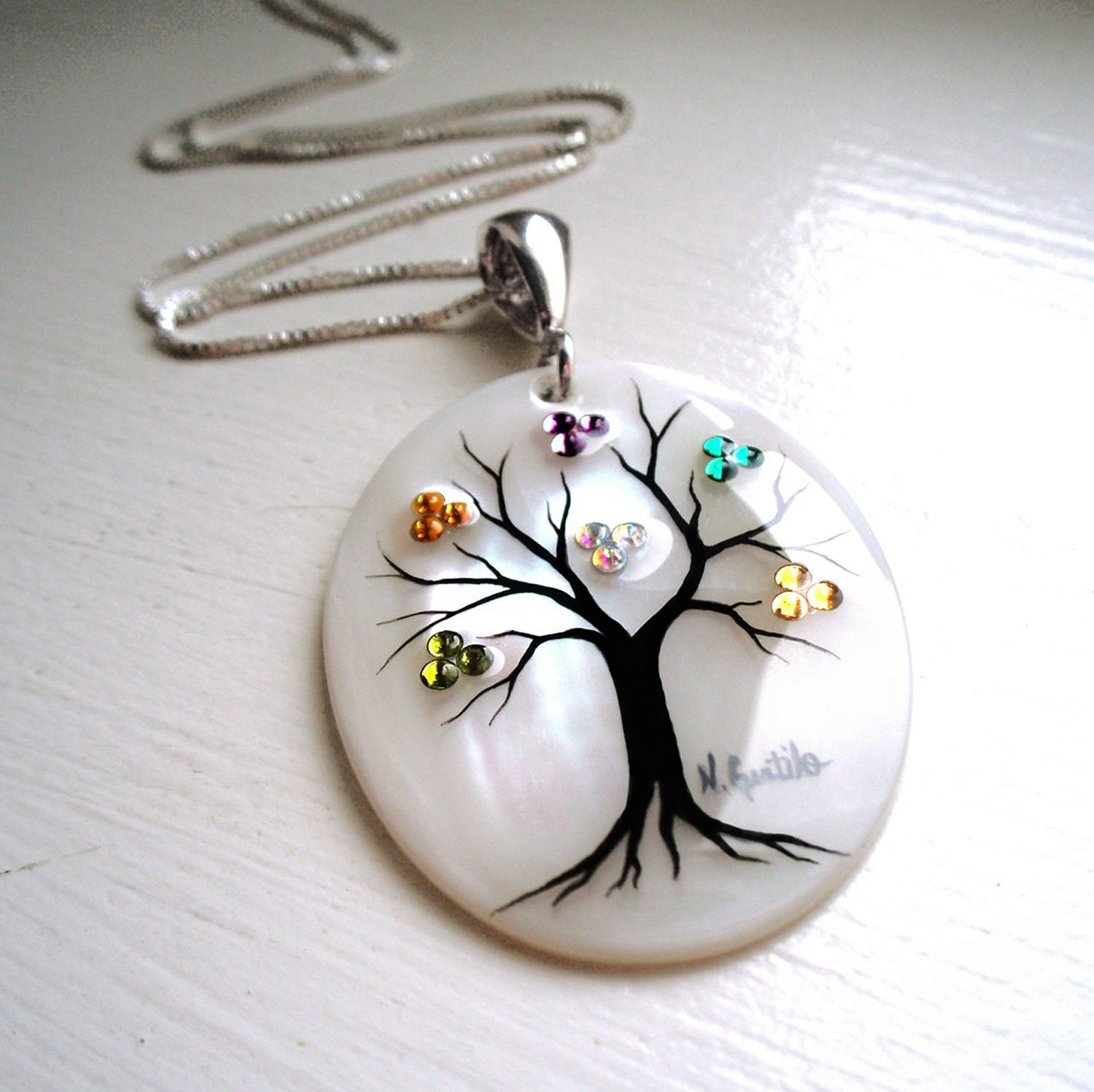 family tree necklace clusters 7 maximum by