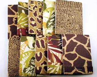 10 Matchbook Notepads Matchbook Party Favors in  Jungle Fever