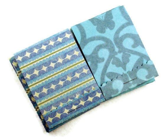 10 Matchbook Notepads in  Blue Bayou