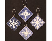 QUILTED SNOWFLAKE ORNIES 11