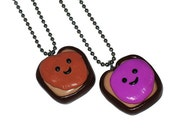 BFF Peanut Butter and Jelly Necklace Set