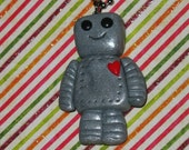 Robot in Love Necklace