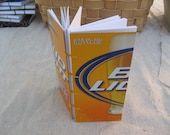 small beer book - bud light journal made from an empty six pack