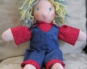 12 inch Customized All Natural Waldorf Inspired Doll