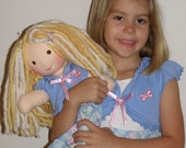 Just Like Me Customized -14 Inch All Natural Waldorf Style Friendship Doll
