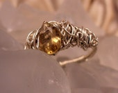 Golden Glimmer Ring - size 8