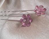 Pink Cosmos - Hair Pins