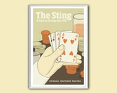Movie poster The Sting 12x18 inches retro print