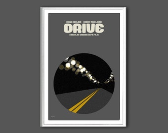 Movie poster Drive print in various sizes