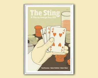 Movie poster The Sting retro print in various sizes