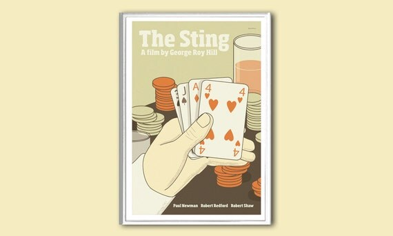 Movie poster The Sting 12x18 inches retro print