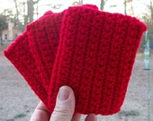 Tawashi scrubbie set of three crochet kitchen eco friendly scrubber scrubbies housewares dish scrubber handmade cleaning