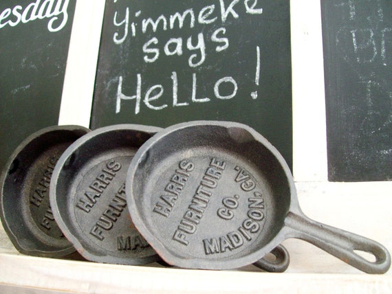 Reserved for Helen.   Vintage Cast Iron miniature skillet.