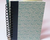 Recycled Blank Spiral Bound Journal Notebook - Blue Tulips