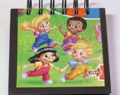 Candyland Game Board Recycled into a Mini Notebook Journal - Candy Land Kids
