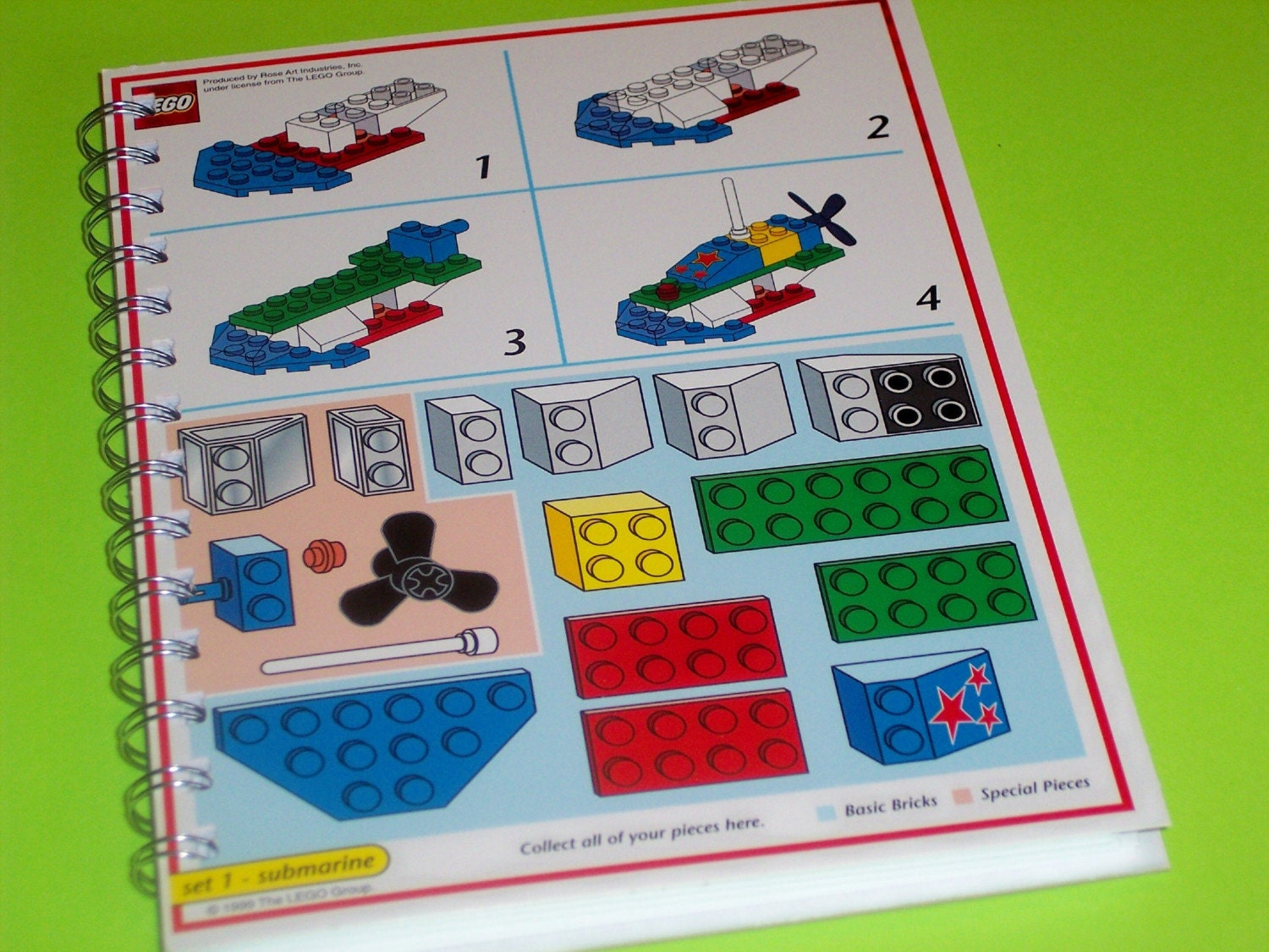 LEGO Notebook Recycled from Lego Creator Board Game
