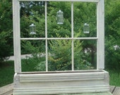 Old Window Planter Primitive Cottage Country Garden or Home Decor