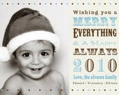 Merry Everything...Happy Always - Christmas card