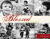 Blessed - a custom holiday card