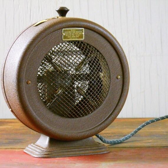 Vintage Wards Electric Fan Heater